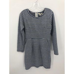 Ya LA long sleeve stripe casual knit dress